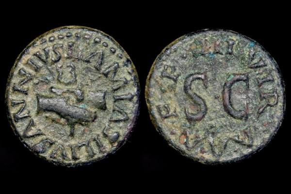 Augustus 27BC-14AD AE Quadrans