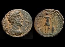 Commodus 177-192AD AE19, Neapolis Samaria